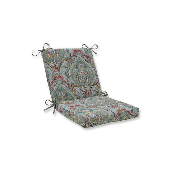 Pillow Perfect Pretty Witty Reef Squared Corners Patio Chair Cushion