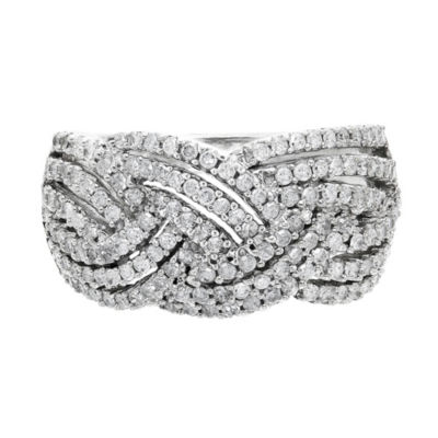 Womens 1 CT. T.W. White Diamond 10K Gold Anniversary Band