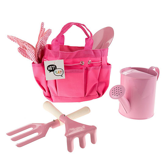 Hey! Play! Kids Gardening Tool Set with Canvas Bag