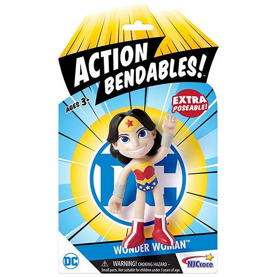 """Nj Croce Dc Comics Action Bendalbes! - 4"""" Wonder Woman Action Figure"""