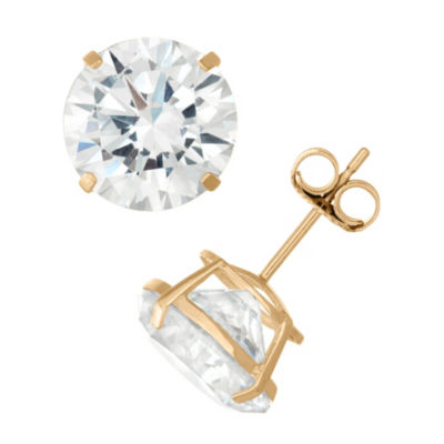 Diamonart 2 1/4 CT. T.W. White Cubic Zirconia 10K Gold Over Silver Round Stud Earrings