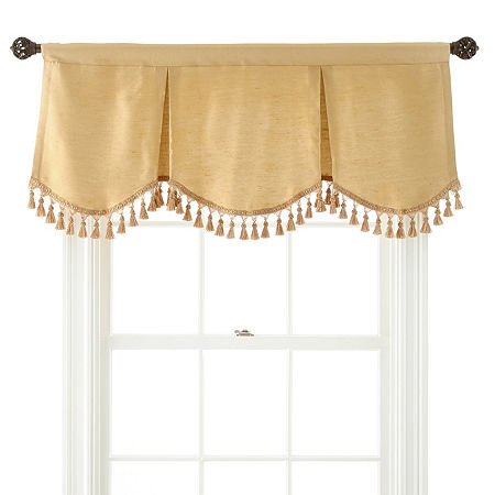 JCPenney Home Supreme Rod-Pocket Frontenac Valance, One Size , Yellow