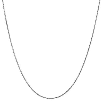 14K White Gold Solid Box Chain Necklace