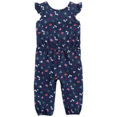 Carter's Frill Shoulder Jumpsuit - Baby Girl