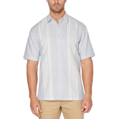 Cubavera Short Sleeve Panel Button-Front Shirt