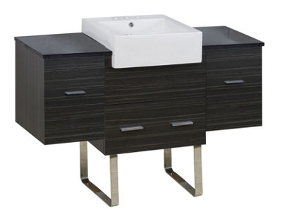 50.75-in. W 18-in. D Modern Plywood-Melamine Vanity Base Set Only In Dawn Grey