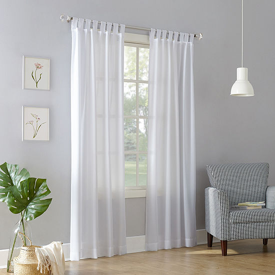 No 918 Jacob Sheer Tab-Top Single Curtain Panel