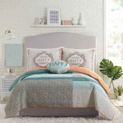 Makers Collective Happy Thoughts 3-pc. Quilt Set