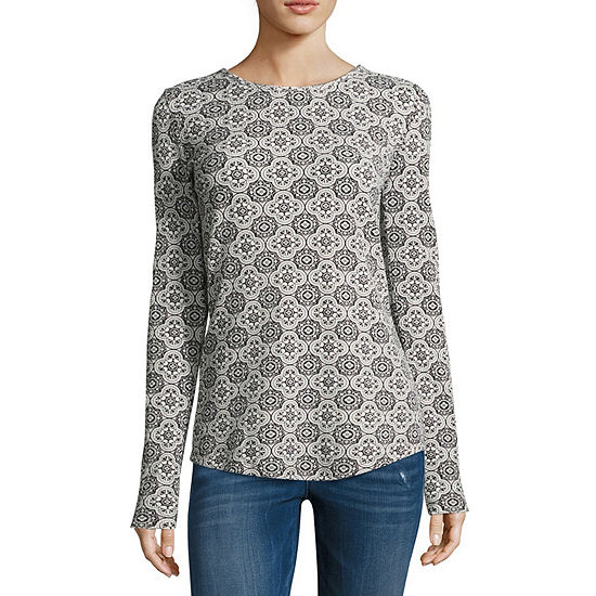 9b1dc7e669 Liz Claiborne Long Sleeve Thermal Tee - Tall - JCPenney