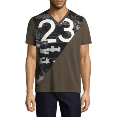 i jeans by Buffalo Short Sleeve V Neck T-Shirt