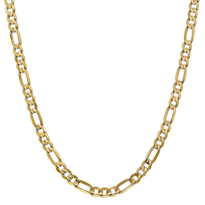 14K Gold 24 Inch Solid Figaro Chain Necklace