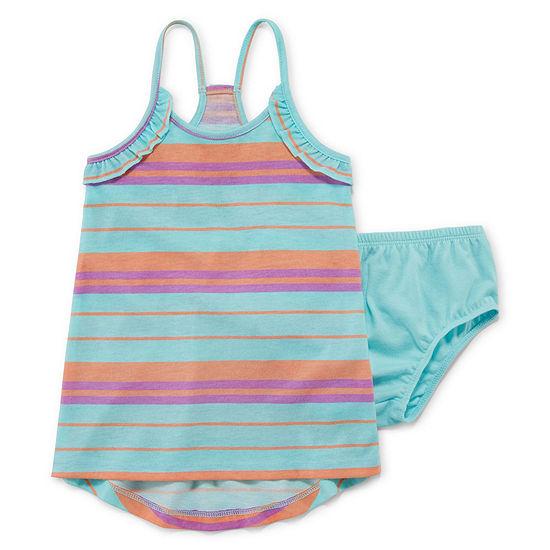 City Streets Girls Sleeveless Striped A-Line Dress - Baby