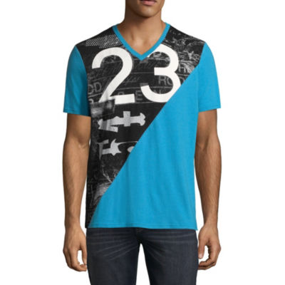 i jeans by Buffalo Short Sleeve V Neck T-Shirt