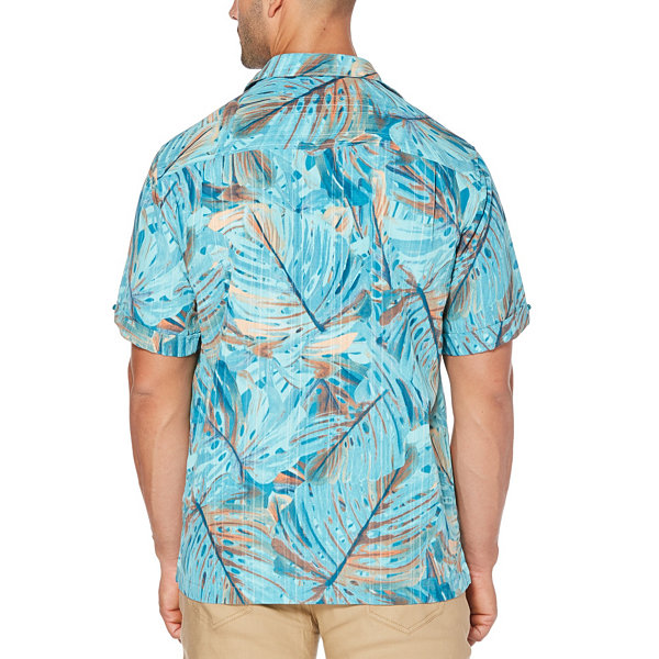 Cubavera Short Sleeve Leaf Button-Front Shirt