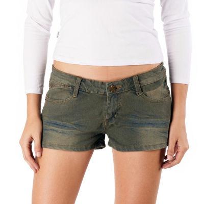 phistic Women's Distressed Denim Shorts