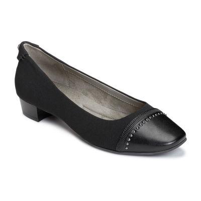 A2 by Aerosoles Womens Make Way Pumps Slip-on Square Toe Block Heel