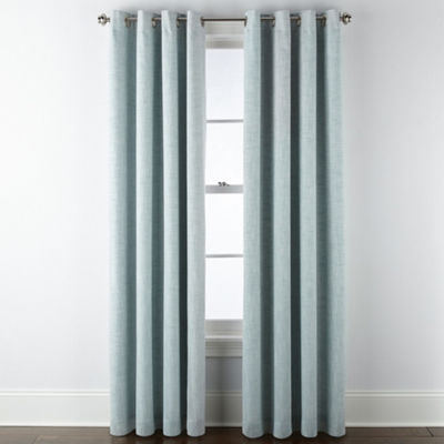 JCPenney Home Metallic Presley Blackout Grommet-Top Curtain Panel
