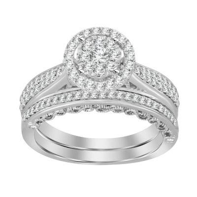 Womens 3/4 CT. T.W. White Diamond 14K White Gold Bridal Set