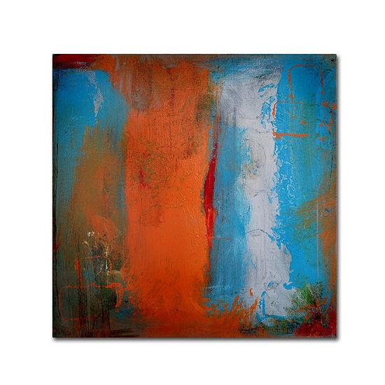 Trademark Fine Art Nicole Dietz Orange Swatch Giclee Canvas Art