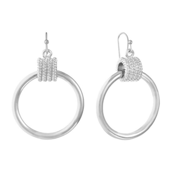 Liz Claiborne 37mm Hoop Earrings