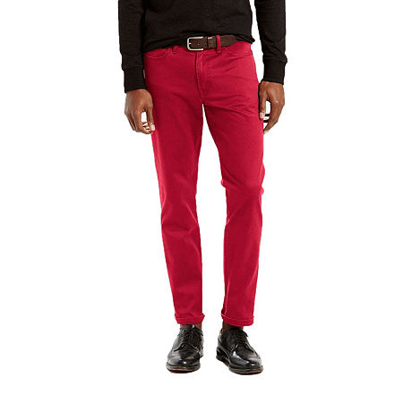 Levi's Men's 541 Tapered Leg Color Athletic Fit Jeans, 34 30, Red