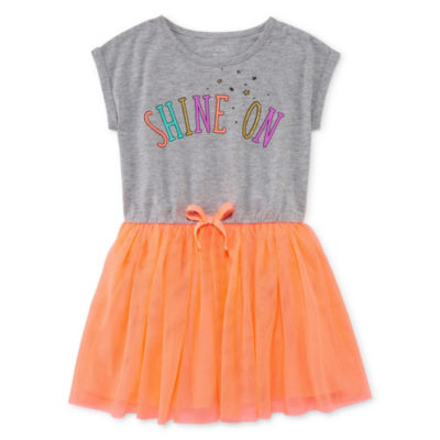 Okie Dokie Short Sleeve Tutu Dress - Toddler Girls