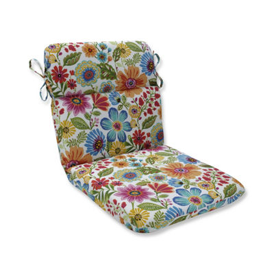 Pillow Perfect Gregoire Prima Rounded Corners Patio Chair Cushion