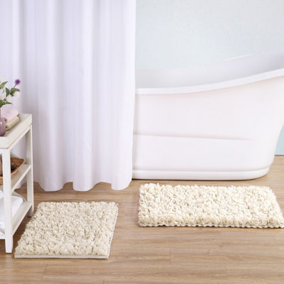 VCNY Paper Shag Bath Rug Collection