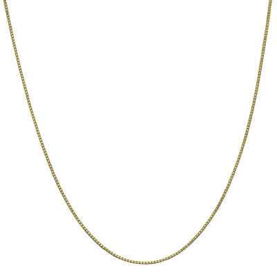 10K Gold Solid Box 16 Inch Chain Necklace