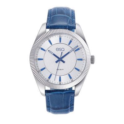 Esq Mens Blue Strap Watch-37esq015201a