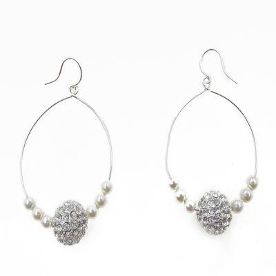 Vieste Rosa Brass 2 Inch Hoop Earrings