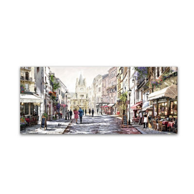 Trademark Fine Art The Macneil Studio Sunlit Street Giclee Canvas Art