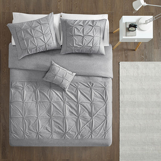Intelligent Design Dana Jersey Tufted Duvet Set