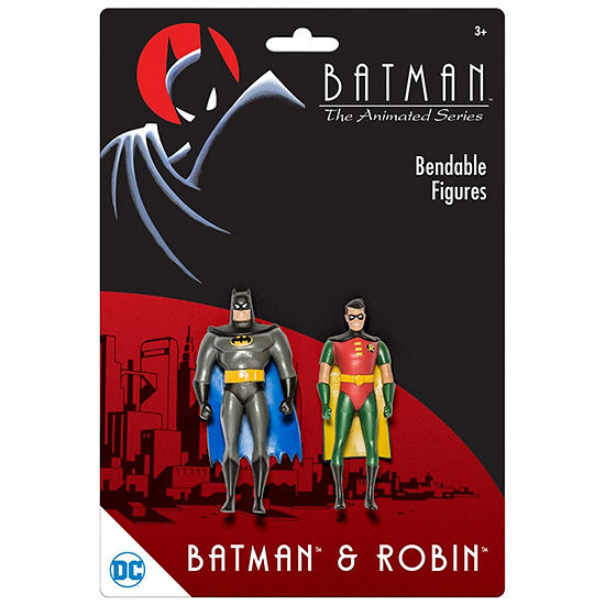 "Dc Comics Batman The Animated Series Batman & Robin Action Figure 3"" Bendable Pair"""