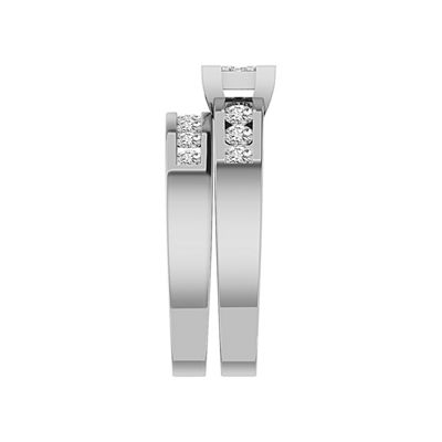 Womens 1 CT. T.W. White Diamond 10K White Gold Bridal Set