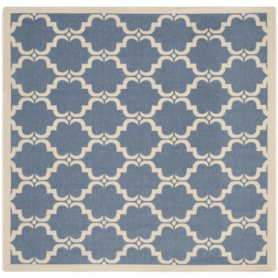 Safavieh Courtyard Collection Jobeth Geometric Indoor/Outdoor Square Area Rug