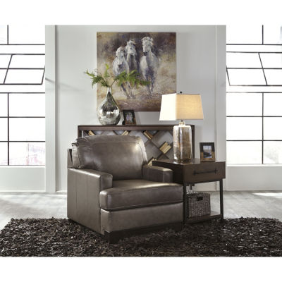 Signature Design By Ashley® Derwood Leather Accent Chair