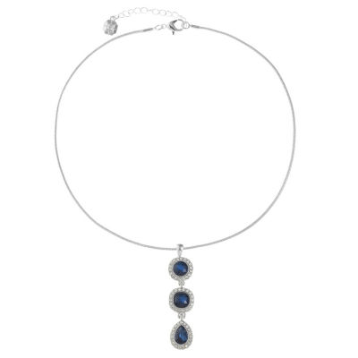 Monet Jewelry Womens Blue Pendant Necklace