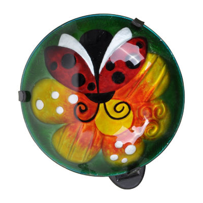Peaktop Outdoor Ladybug Fusion Glass Lantern Green/Orange
