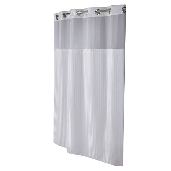 Hookless Classic Herringbone Shower Curtain Set