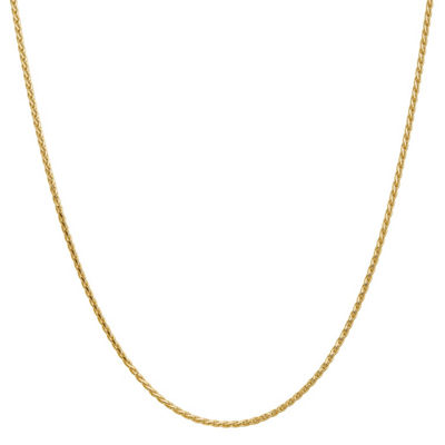 14K Gold Solid Wheat 20 Inch Chain Necklace