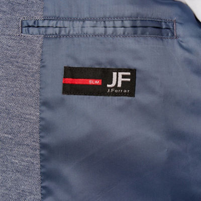 JF J.Ferrar 360 Everyday Stretch Blue Heather Slim Fit Sport Coat
