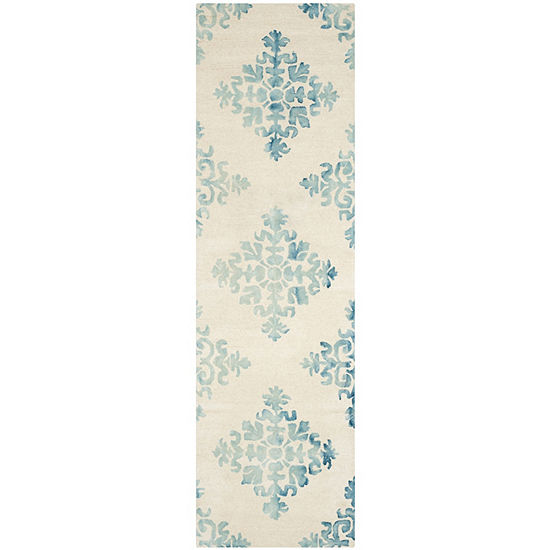 Safavieh Dip Dye Collection Durward Floral Runner Rug