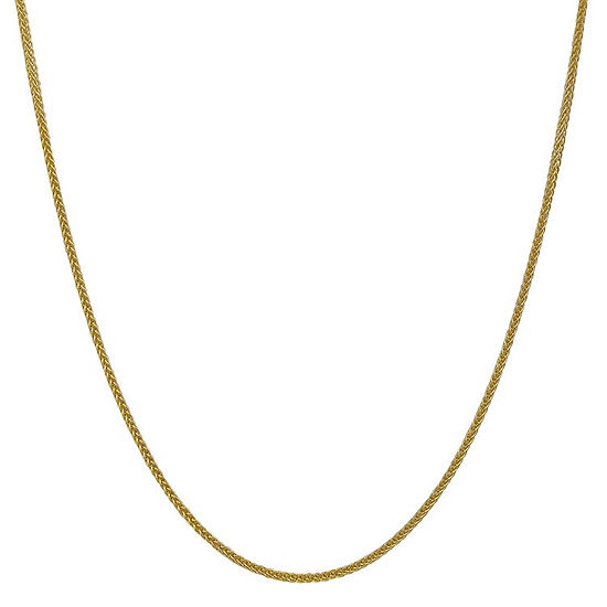 14K Gold Semisolid Wheat Chain Necklace