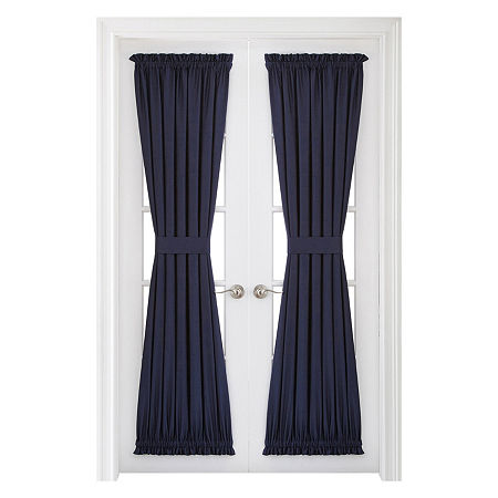 JCPenney Home Supreme Light-Filtering Rod-Pocket Single Door Panel Curtain, One Size , Blue