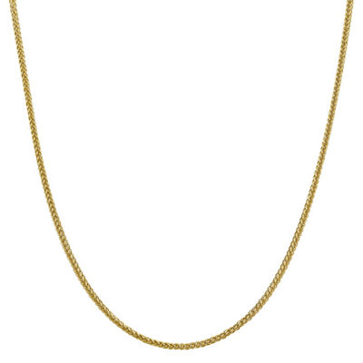 14K Gold Semisolid Wheat 16 Inch Chain Necklace