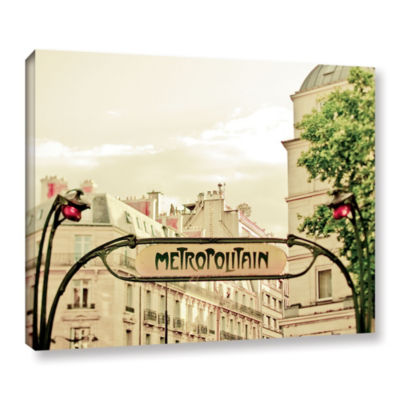 Brushstone A Lily In Paris Gallery Wrapped Canvas