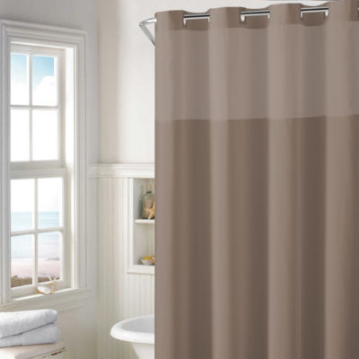 Hookless Plain Weave Shower Curtain Set