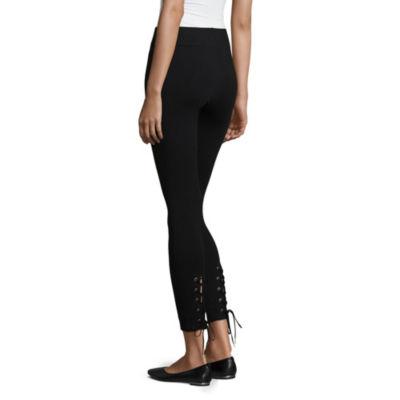 Mixit Lace-Up Knit Leggings