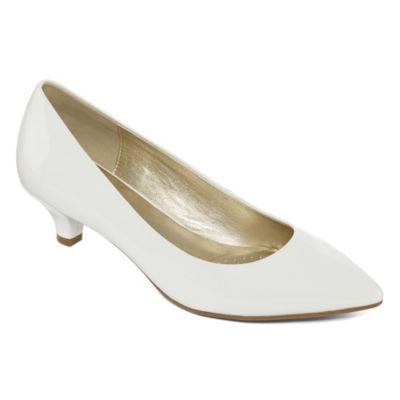 east 5th Womens Ef Cassandra Pumps Slip-on Pointed Toe Kitten Heel